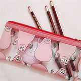 Cute Barbapapa Transparent Pencil Case for School Girls