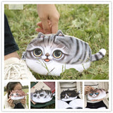 Cute Funky Meow Cat Retro Style Cosmetic Pouch Bag