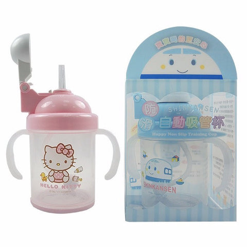 Sanrio Hello Kitty Shinkansen Toddler Baby Straw Cup w/ Handles