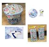 Peanuts Snoopy Zipped Soft Washing Laundry Net Bags (Cylinder/Rectangular)