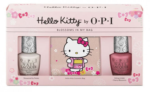 Hello Kitty by OPI Blossoms In My Bag (Cosmetic Bag Gift Pack)