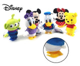 Disney Mickey Minnie Donald Daisy Pooh Alien Plush Doll Wind-up Toy