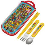 Japan Marvel Avengers Hero Boy Personal Cutlery Set w Utensil Case