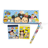 Disney TSUM TSUM Pencils Box & Notes Stationery Gift Sets of 4 Items