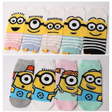 Made in Korea Universal Licensed Minions Cute Low Cut Socks (Adult)