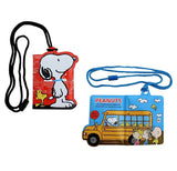 Cute Peanuts Snoopy Travel Card Holder & Coin Pouch w/ Strap