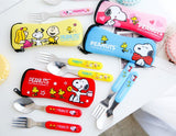 Peanuts Snoopy Woodstock Personal Cutlery Utensils Set (Fork & Spoon)