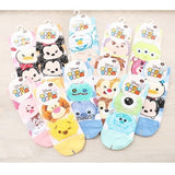 Disney TSUM TSUM Cute Striped Low Cut Socks (Mickey/Stitch/Winnie/ChipnDale/Frozen/ToyStory)