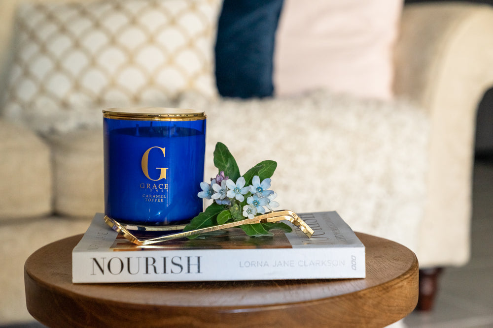 Luxury candles Blue & Gold Vogue