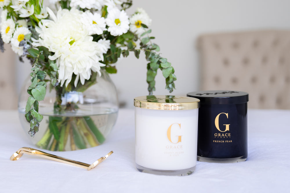Soy Candles White & Gold or Black on Black
