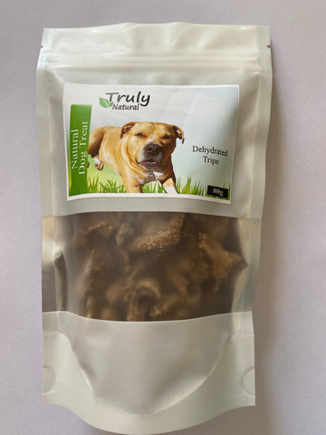 Truly Natural 80g Dehydrated Beef Tripe treats 100%  Australian Beef