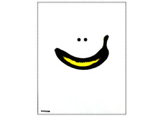 Plakat - banan smiley