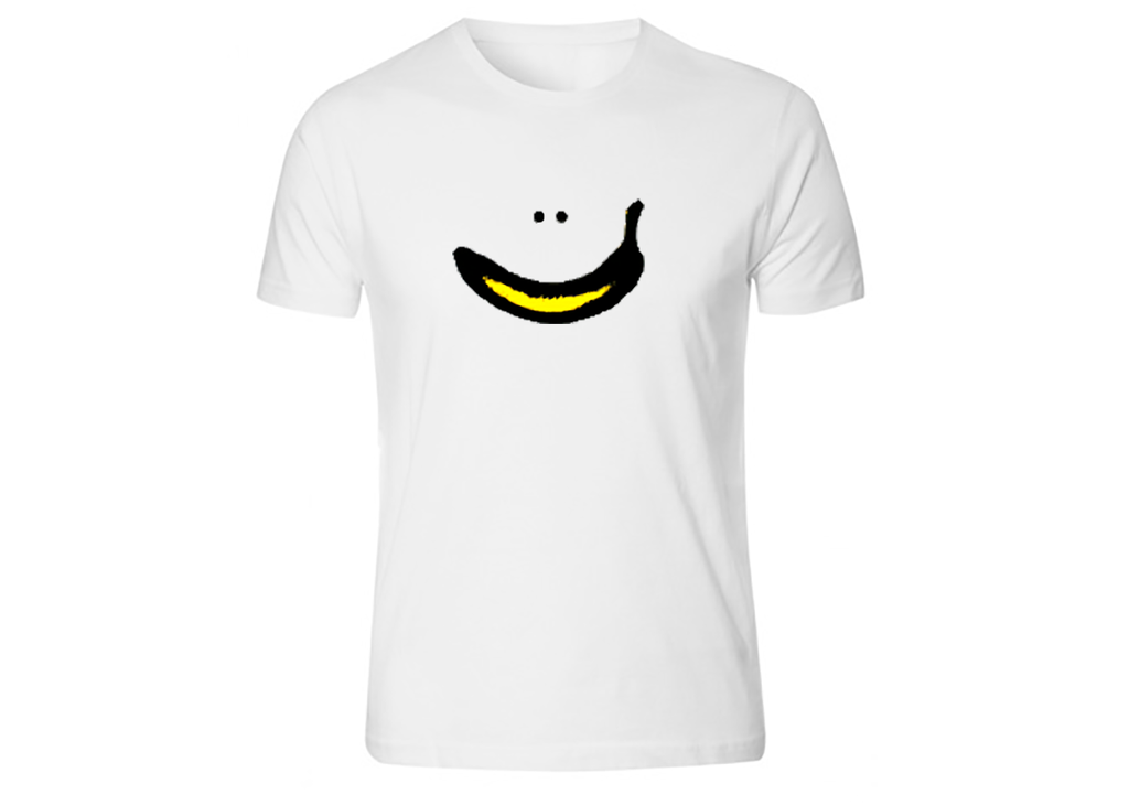 T-shirt Banana Smiley - mænd