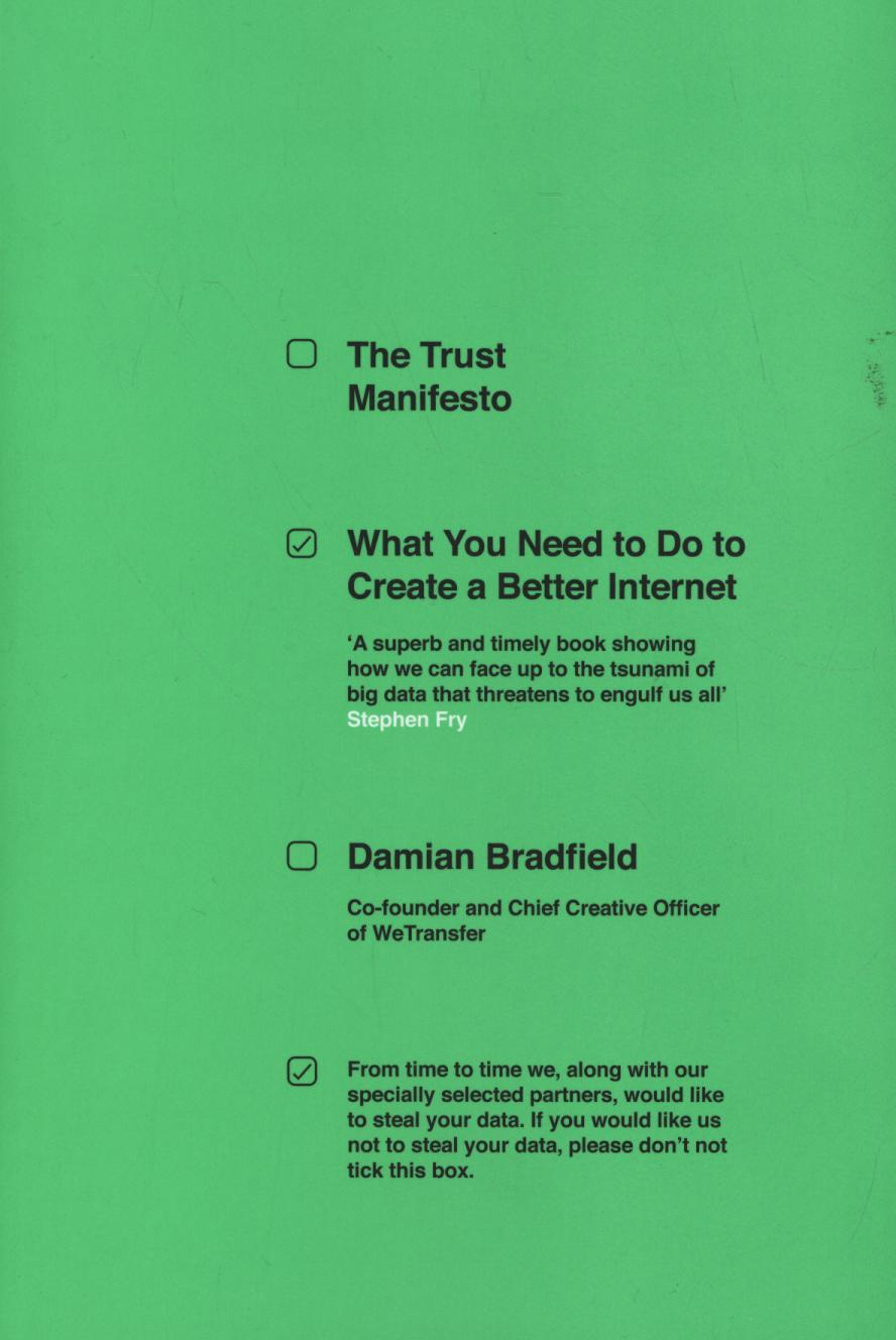 Trust Manifesto: What you Need to do to Create a Better Internet