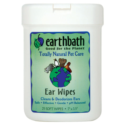 Earthbath Ear Wipes Fragrance Free 25pcs - My Pooch and Co.