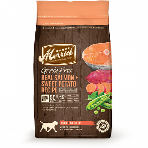 MERRICK Grain Free Real Salmon & Sweet Potato Recipe - My Pooch and Co.