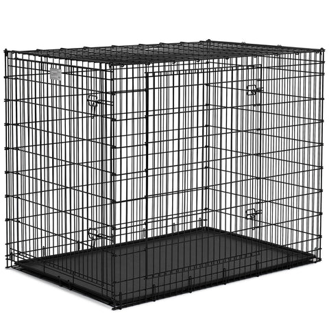 "MIDWEST Crate Black Double Door 54"" - My Pooch and Co."
