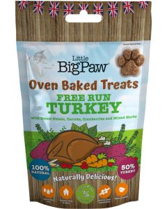 LITTLE BIG PAW Oven Baked Turkey Treats 130g (Exp. 10/4/20) - My Pooch and Co.