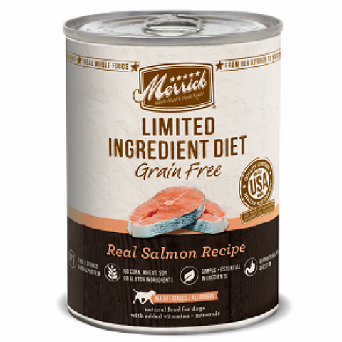 MERRICK Grain Free Limited Ingredient Diet Salmon 360g x 12 - My Pooch and Co.