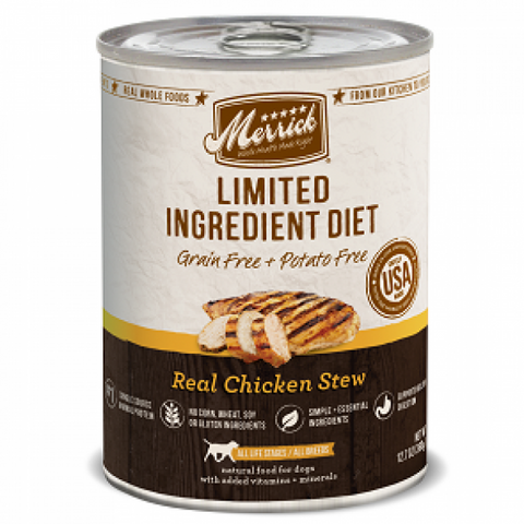 MERRICK Grain Free Limited Ingredient Diet Chicken 360g x 12 - My Pooch and Co.