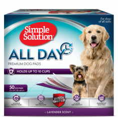 SIMPLE SOLUTION All Day 6-Layer Premium Dog Pads (50pcs) - My Pooch and Co.