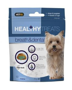 M&C Healthy Treats Breath & Dental Dogs & Pups 70g - My Pooch and Co.