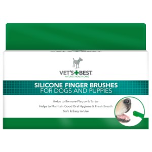 Vets+Best Silicone Finger Brushes For Dogs & Puppies - My Pooch and Co.