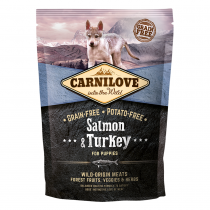 CARNILOVE Salmon & Turkey For Puppies 1.5kg - My Pooch and Co.