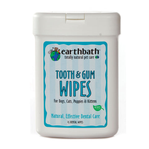 EARTHBATH Tooth & Gum Wipes With Lite Peppermint Flavour (25pcs) - My Pooch and Co.