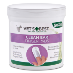 Vet's+Best Clean Ear Finger Pads (50pads) - My Pooch and Co.