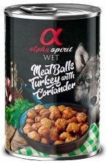 ALPHA SPIRIT Meat Balls With Turkey & Coriander 400gm - My Pooch and Co.