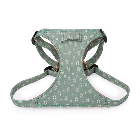 PAWSITIV Handmade Daisy Green Harness - My Pooch and Co.