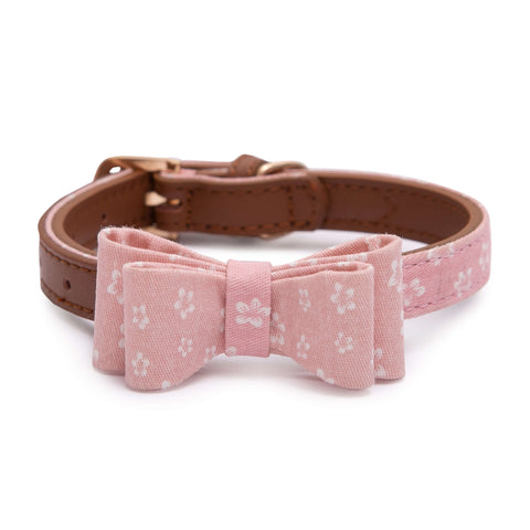 PAWSITIV Handmade Daisy Pink Collar - My Pooch and Co.
