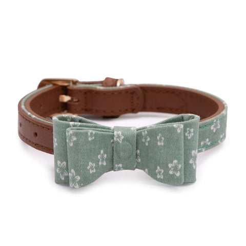 PAWSITIV Handmade Daisy Green Collar - My Pooch and Co.
