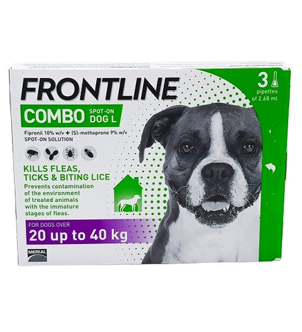 Frontline Combo For Large Dogs (3 pipettes) - My Pooch and Co.