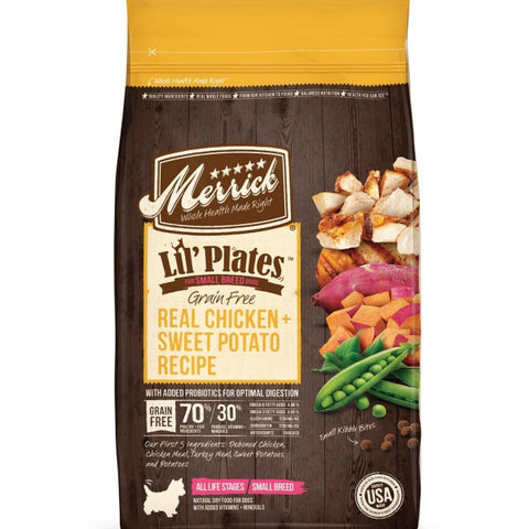 MERRICK Lil' Plates Grain Free Real Chicken 1.8kg (For small breeds) - My Pooch and Co.