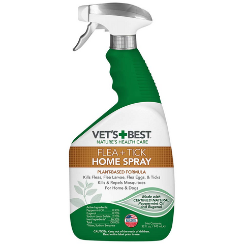 Vets+Best Natural Flea + Tick Home Spray 32oz - My Pooch and Co.
