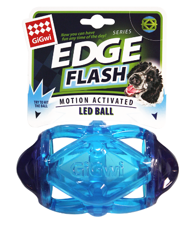 GiGwi Edge Flash Rugby Blue - My Pooch and Co.