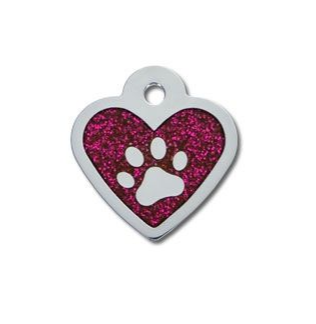 Heart Epoxy Pink Glitter Paw - My Pooch and Co.