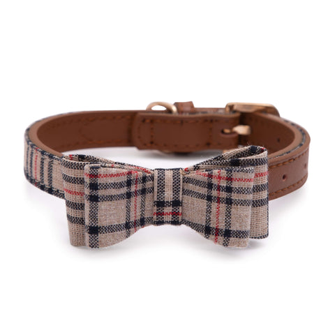 PAWSITIV Handmade Thomas Beige Collar - My Pooch and Co.
