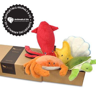 Under The Sea Toy Collection (Set of 5 with FREE Gift box) - My Pooch and Co.