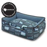 Dog's Life Lounge Bed Dark Blue - My Pooch and Co.