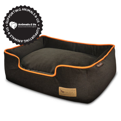 Urban Plush Orange Lounge Bed - My Pooch and Co.