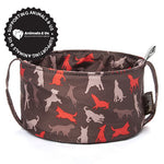Collapsible Travel Bowl Mocha - My Pooch and Co.