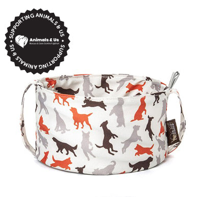 Collapsible Travel Bowl Vanilla - My Pooch and Co.