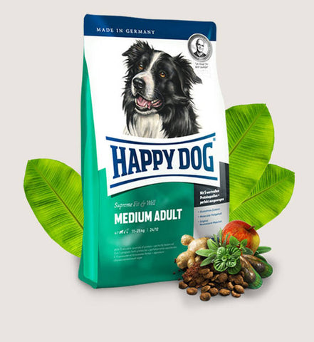 HAPPY DOG Supreme Fit & Well Medium Adult - My Pooch and Co.