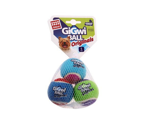GiGwi Tennis Balls Small (3 pcs) - My Pooch and Co.