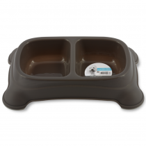 M-PETS Plastic Double Bowl 2x950ml - My Pooch and Co.