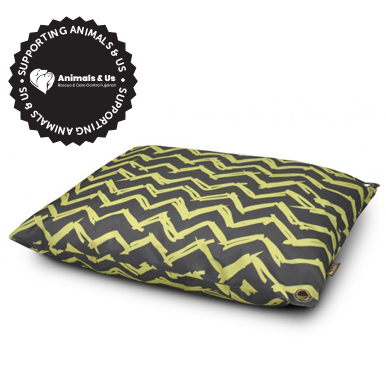 Outdoor Dog Bed Chevron Daffodil Yellow - My Pooch and Co.