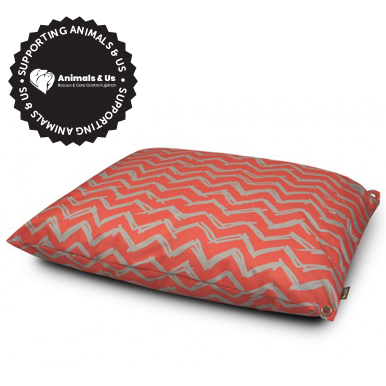 Outdoor Bed Chevron Barn Red - My Pooch and Co.